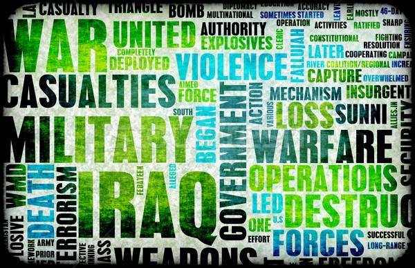 Irak guerre grunge résumé fond mort Photo stock © kentoh