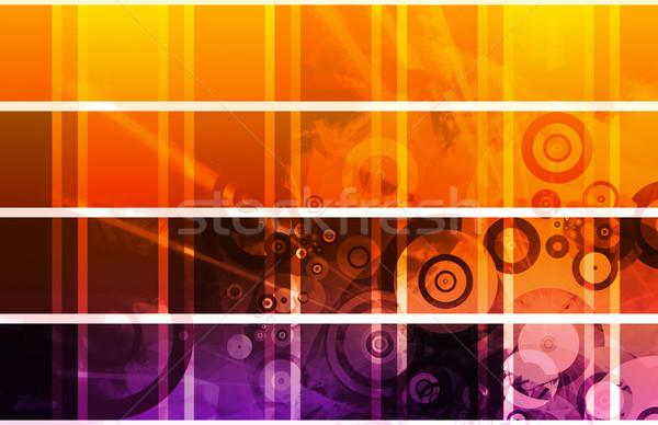 Weboldal terv clip art szett iroda technológia Stock fotó © kentoh