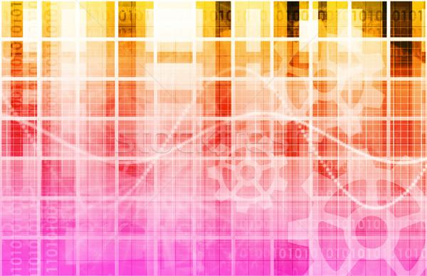 Beveiligde technologie netwerk web gegevens overdragen Stockfoto © kentoh