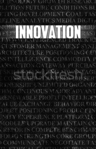 Innovación negocios motivación muro de piedra pared cuadro Foto stock © kentoh