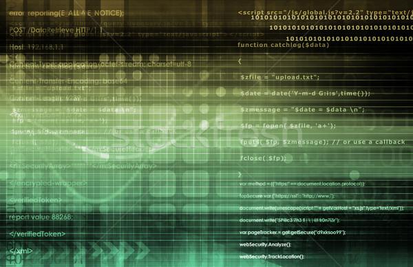 технологий аналитика виртуальный данные управления искусства Сток-фото © kentoh