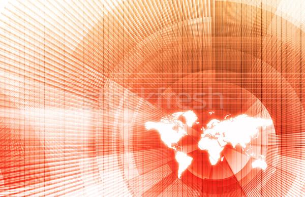 Globális üzlet hálózat modern vonalak üzlet munka Stock fotó © kentoh