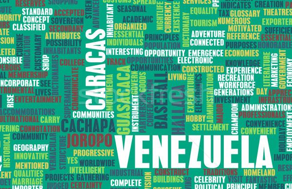 Venezuela vidék absztrakt művészet üzlet étel Stock fotó © kentoh