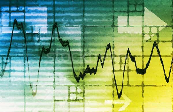 Ekonomiczny rozwoju analiza prognoza wykres rynku Zdjęcia stock © kentoh