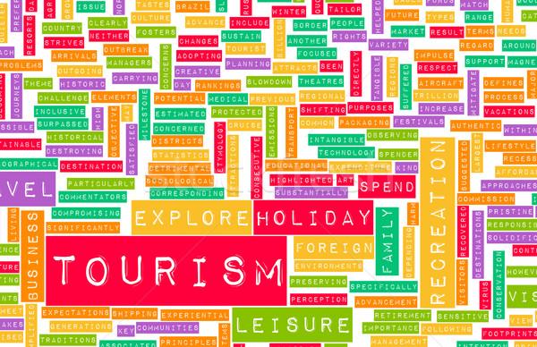 Toerisme industrie toeristische buitenlands vakantie business Stockfoto © kentoh