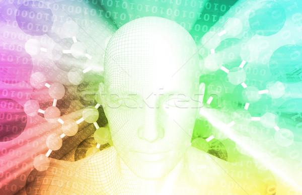 Ciência tecnologia 3D genético atômico fundo Foto stock © kentoh