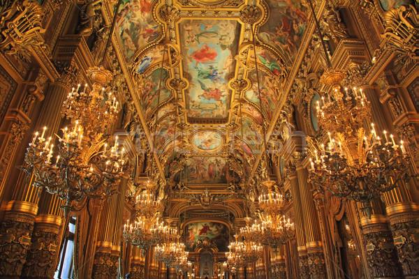 Opera Fransa Paris turist hedef oda Stok fotoğraf © kentoh