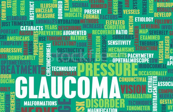 Glaucoma oog wanorde zenuw abstract Stockfoto © kentoh