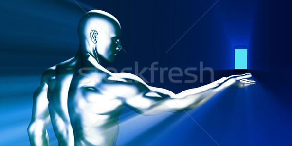 Révolution smartphone technologie homme Photo stock © kentoh