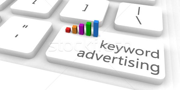 Kulcsszó hirdetés gyors könnyű weboldal üzlet Stock fotó © kentoh