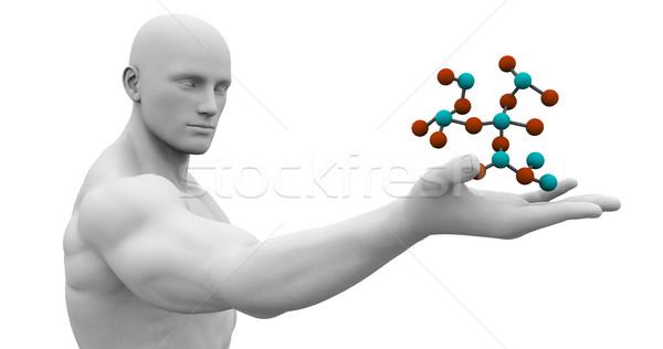 Man Observing Molecule Structure Stock photo © kentoh