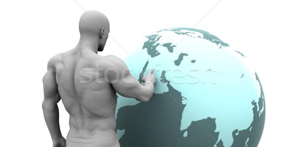 Business midden oosten arab kantoor man netwerk Stockfoto © kentoh