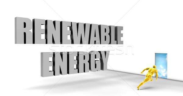 Energie rinnovabili veloce brano dirigere percorso Foto d'archivio © kentoh