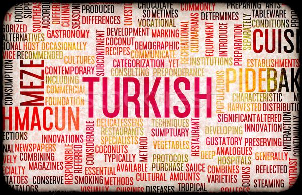 Türk gıda menü mutfak yerel bulaşık Stok fotoğraf © kentoh
