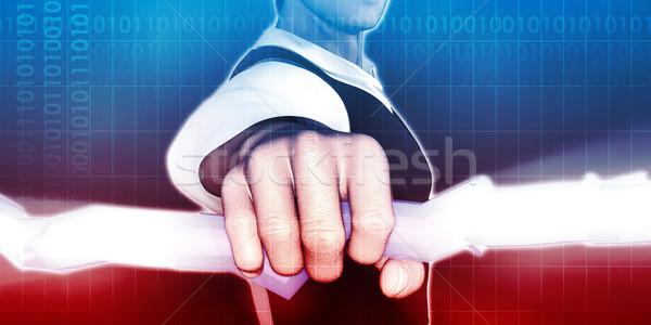 Cyfrowe inwigilacja etyka online prywatność Internetu Zdjęcia stock © kentoh