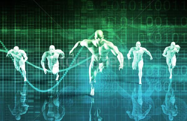 ストックフォト: 科学 · コーチング · サービス · スポーツ · 教育
