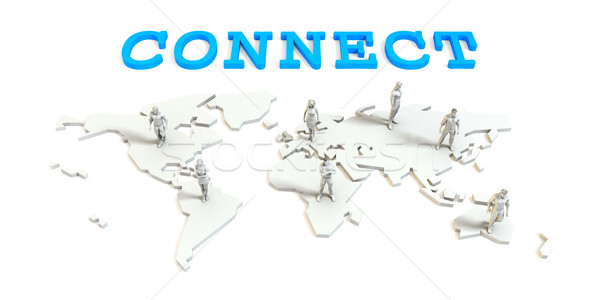 Connect Global Business Stock photo © kentoh