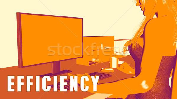 効率 女性 見える コンピュータ ビジネス 教育 ストックフォト © kentoh