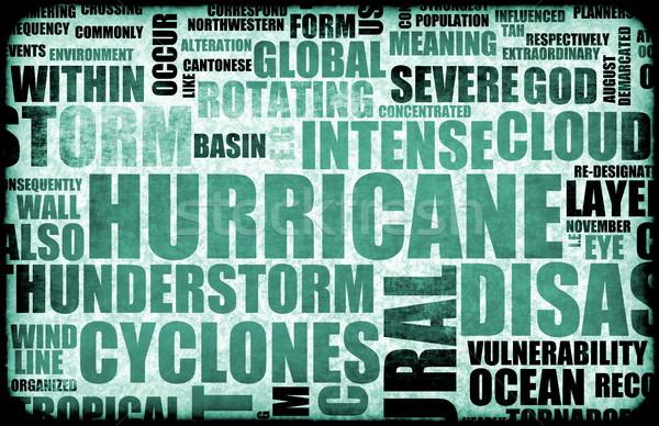 Orkaan natuurlijke ramp achtergrond regen storm Stockfoto © kentoh