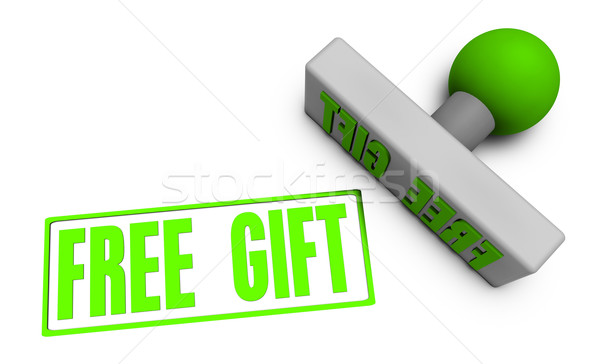 Free Gift Stamp Stock photo © kentoh