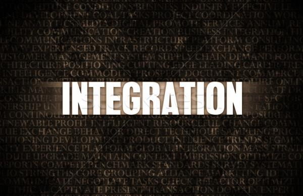 Intégration affaires motivation mur de pierre mur fond Photo stock © kentoh