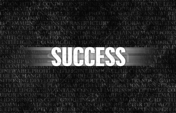 успех бизнеса мотивация каменной стеной стены фон Сток-фото © kentoh