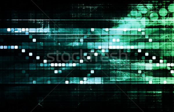 株式市場 分析 トレンド 将来 デジタル 情報 ストックフォト © kentoh