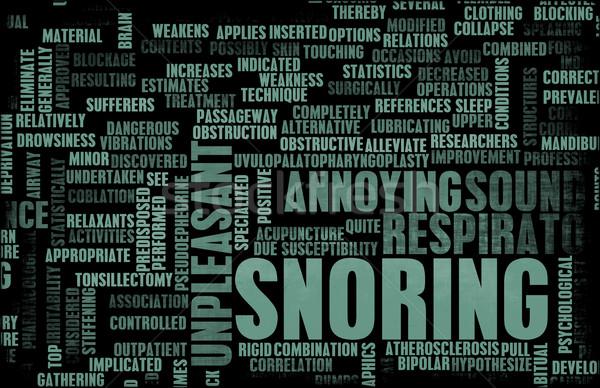 Stockfoto: Snurken · vervelend · slaap · gezondheid · slapen · gevaar