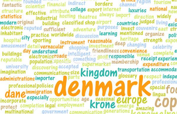 Denemarken land abstract kunst business voedsel Stockfoto © kentoh
