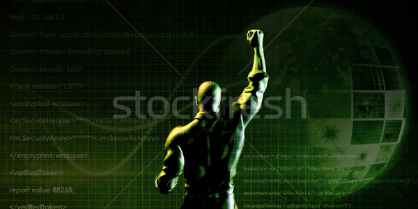 Bireysel işadamı sembolik kazanan iş arka plan Stok fotoğraf © kentoh