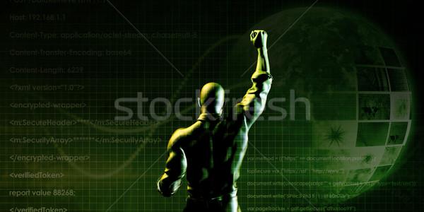Individual empresario simbólico ganar negocios fondo Foto stock © kentoh