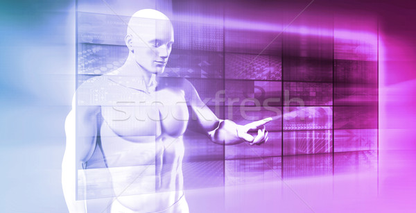Sztuczna inteligencja bezpieczeństwo danych streszczenie muzyka mózgu Zdjęcia stock © kentoh