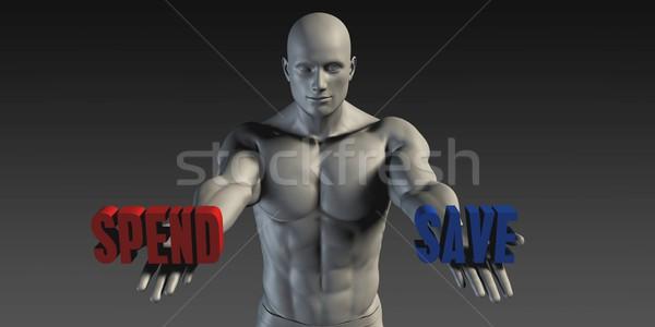 Salvare scelta diverso convinzione blu rosso Foto d'archivio © kentoh