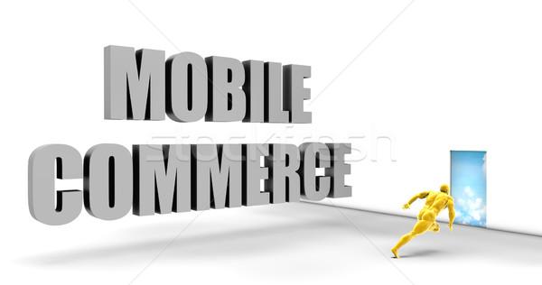 Mobile commerce veloce brano dirigere Foto d'archivio © kentoh