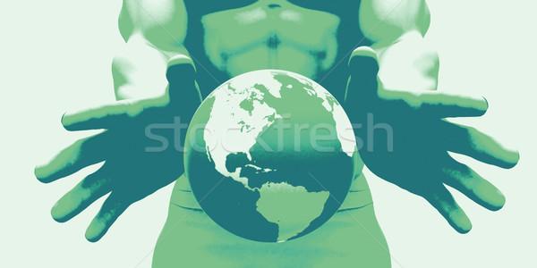 Estratégia de marketing marca comercial anúncio plano abstrato Foto stock © kentoh