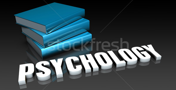 Psicologia classe scuola istruzione libro libri Foto d'archivio © kentoh