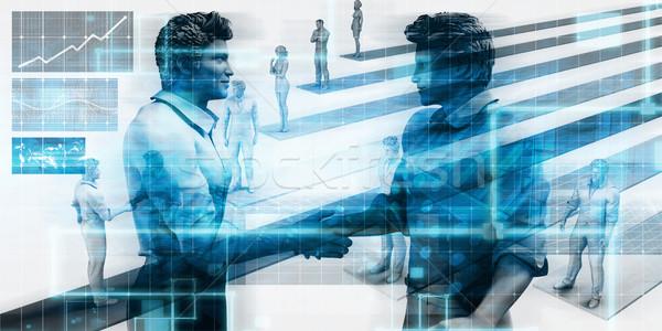Tecnologia avvio società rete web corporate Foto d'archivio © kentoh