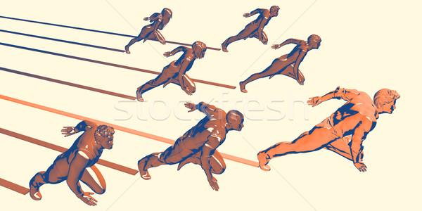 Ludzi biznesu uruchomiony zespołu działalności mężczyzn firmy Zdjęcia stock © kentoh