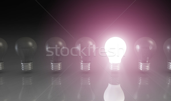 Creativity Concept with Light Bulb Stock photo © kentoh