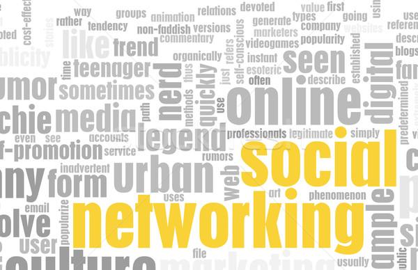 Stock fotó: Társasági · hálózatok · helyszín · online · internet · terv