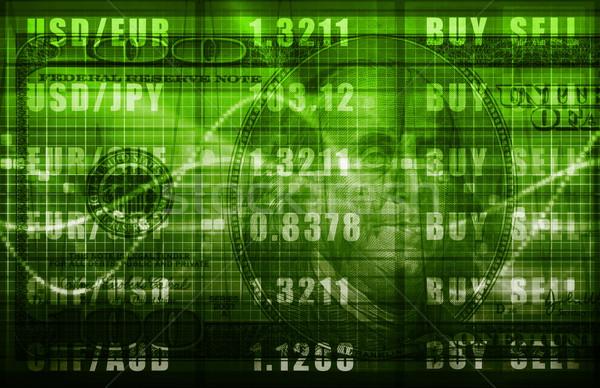 Forex Markt Analyse Business Commerce Arbeit Stock foto © kentoh