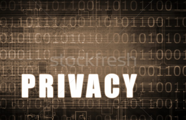 Privacy digitale binair waarschuwing abstract netwerk Stockfoto © kentoh