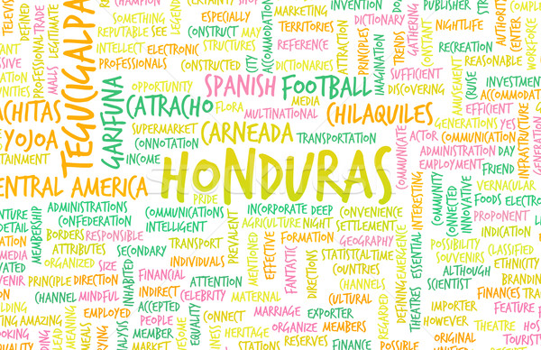 Honduras país abstrato arte negócio fundo Foto stock © kentoh