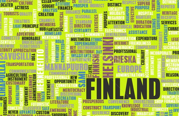 Finland Helsinki abstract kunst business stad Stockfoto © kentoh