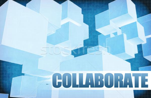 Együttműködik futurisztikus absztrakt bemutató csúszda háttér Stock fotó © kentoh