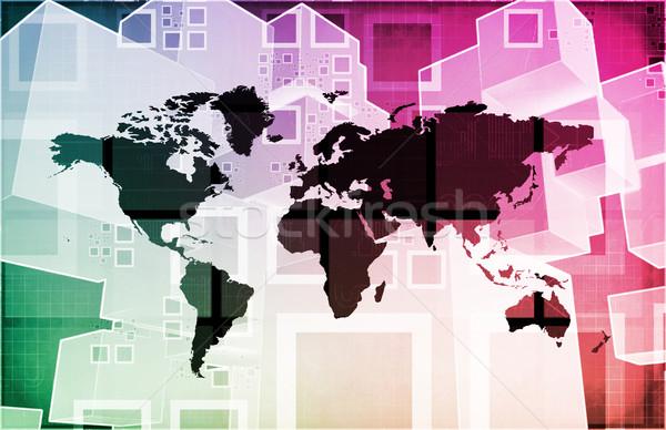 Hareketlilik iletişim telefon Internet ağ hareketli Stok fotoğraf © kentoh