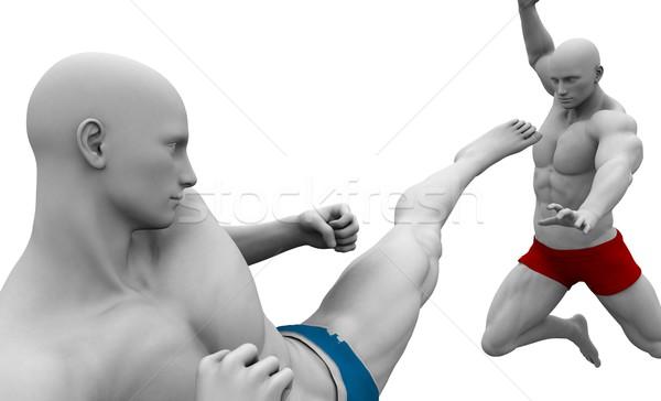 Guerrero espíritu hombres negocios deporte Foto stock © kentoh