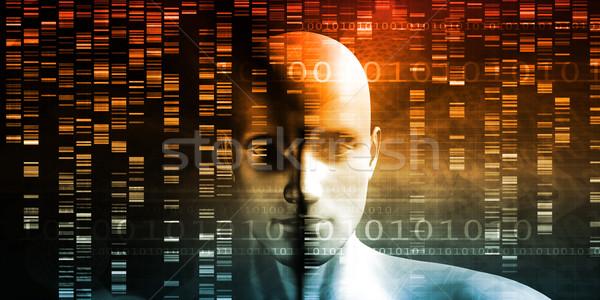 Genetik mühendislik bilim araştırma gelişme adam Stok fotoğraf © kentoh