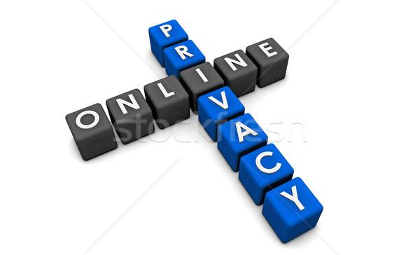 Ligne vie privée données web affaires internet Photo stock © kentoh