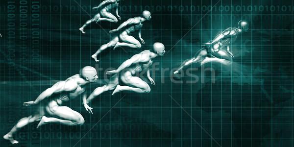 логистика доставки мужчин работает полный скорости Сток-фото © kentoh